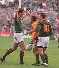 África do Sul x Austrália - IRB World Cup 1995 - itelegraph.co.uk