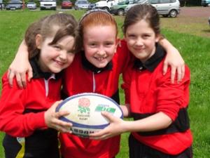 Garotas praticantes de Rugby - RFU/Inglaterra