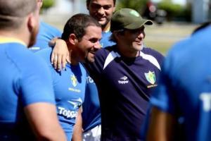 """Ramiro """"Mocho"""" Mina (capitão da Seleção Brasileira de Rugby) e Toto Camardon. Foto: Rafael Silva"""