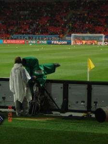 Câmera no jogo Uruguai-Alemanha, pelo Mundial FIFA 2010