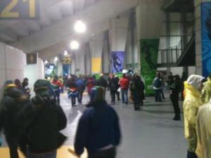 Acessos internos do estádio de Wellington