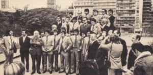 Allende com o Colo-Colo, em 1973 (Revista Estádio)