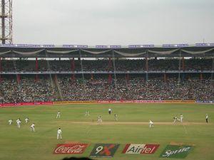 Estádio de críquete na Índia